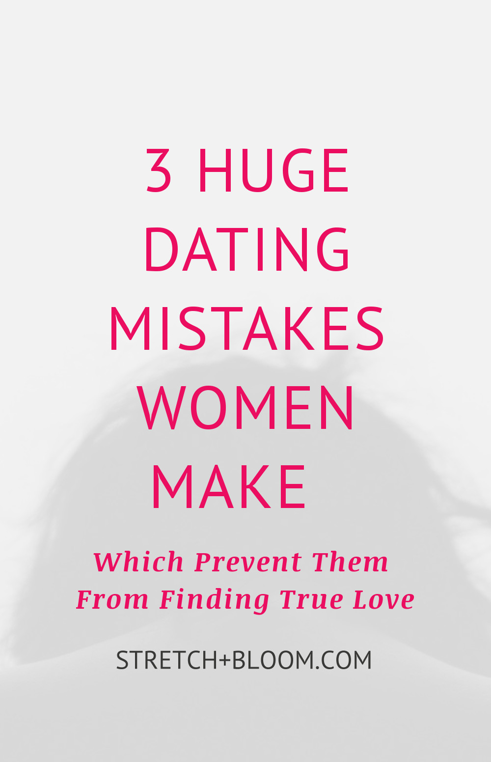 The Dating is a bit like a jungle these days. For many people finding true love is hard. It gets even harder when you make crucial mistakes that pushe love further awy from you. Click the pin to learn 3 crucial dating mistakes to avoid if you're looking for true love