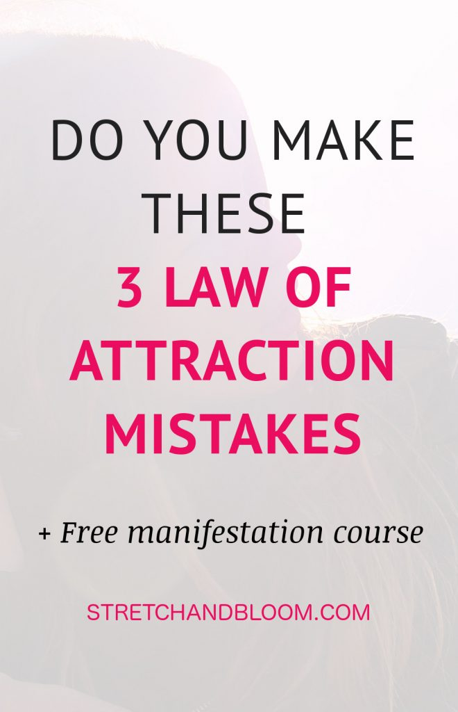 Do you make these 3 law of attraction mistakes? While manifesting is simple, it's not easy. Make sure to avoid these 3 common mistakes to get great results.