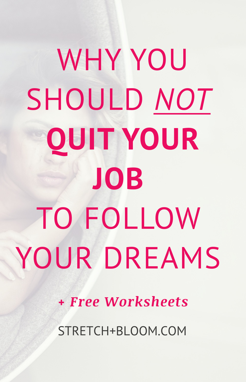 As much as I am always advocating that you follow your dreams and your passions, today I want to share with you the top 3 reasons why you should not quit your (high-paying but soul-crushing) job to live your dreams.