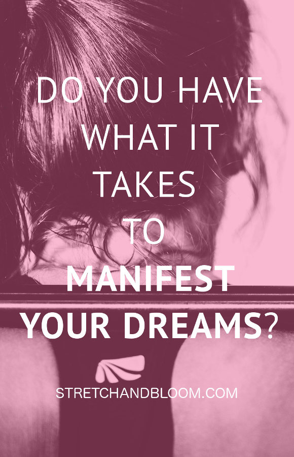 Pinterest banner: do you have what it takes to manifest your dreams