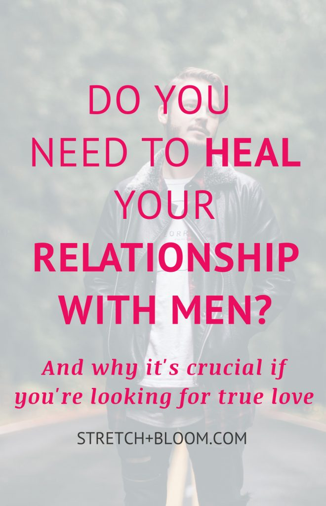 Do you need to heal your relationship with men? Many single women are struggling ot find love. The dating scene is a jungle but sometimes some mindsets are also holding them back. Click on the pin to learn how your relationship with men can affet your dating life.