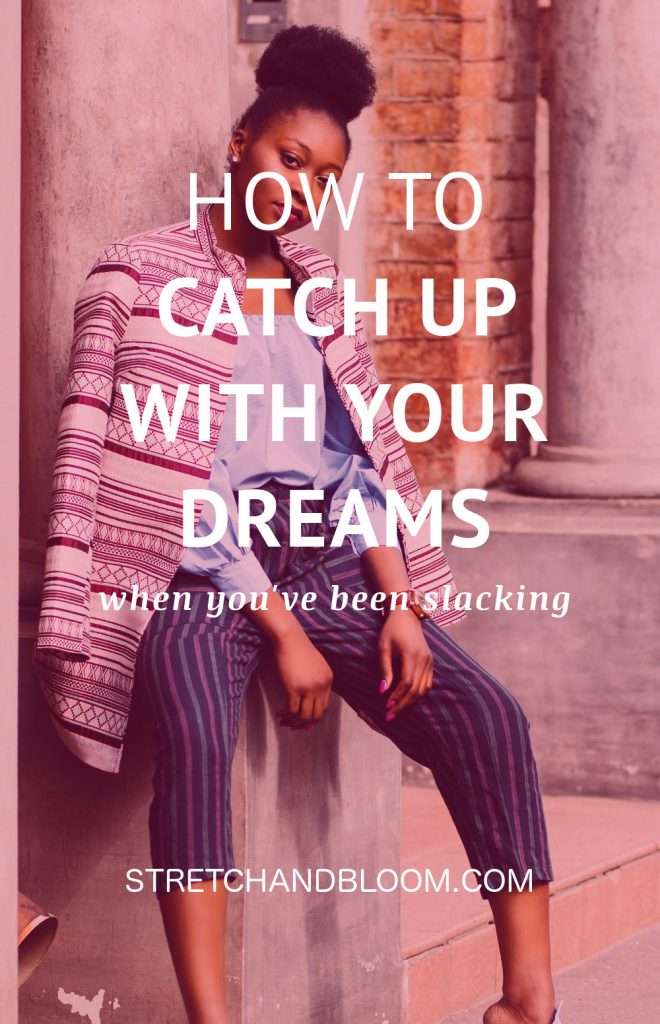 Pinterest banner: catch up with your dreams with manifestation