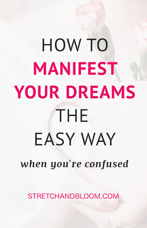 Pinterest banner: manifesting your dream
