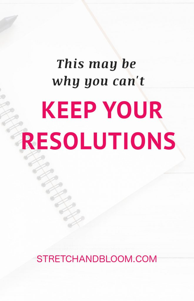 Pinterest banner: why you can't keep new year's resolutions