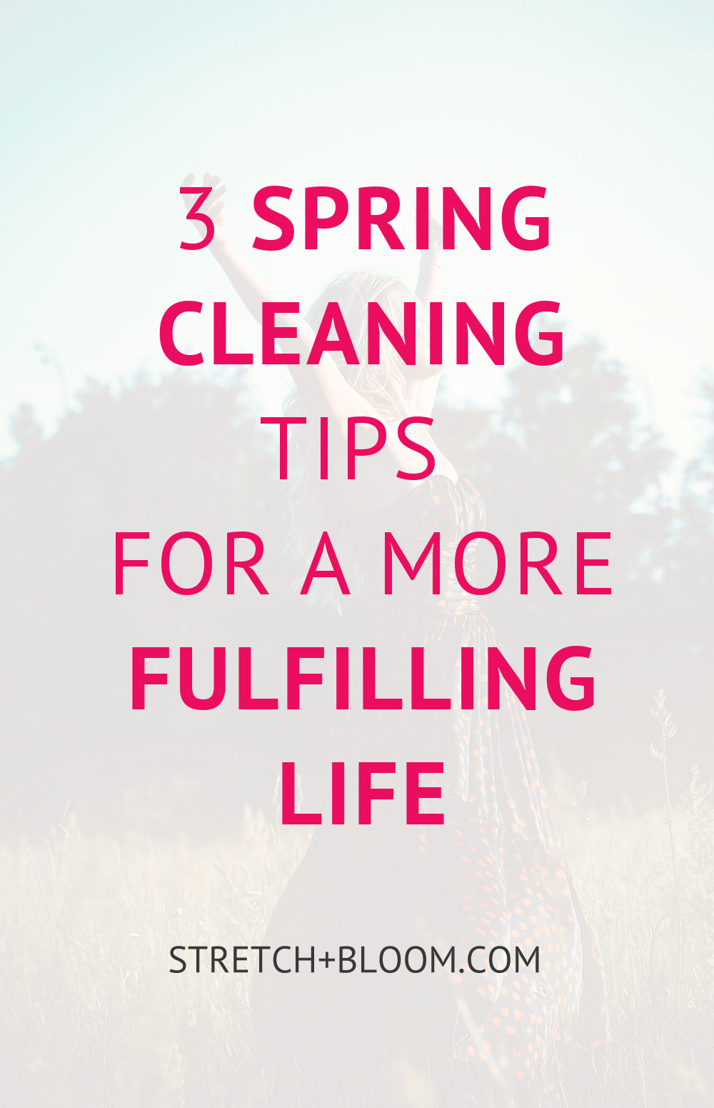 Your life is like a garden, it needs spring cleaning too. Here are 3 spring cleaning tips for a more fulfilling life.