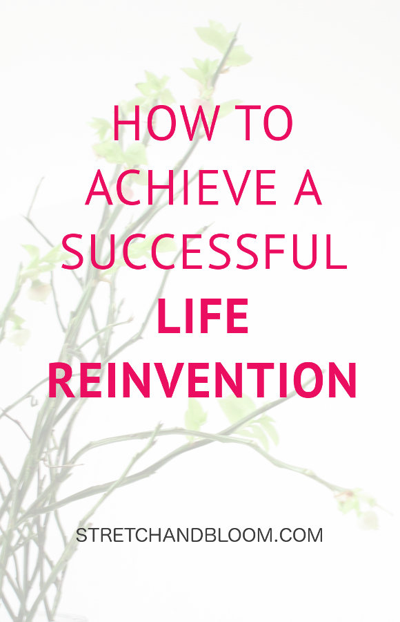 Pinterest banner: how to reinvent your life