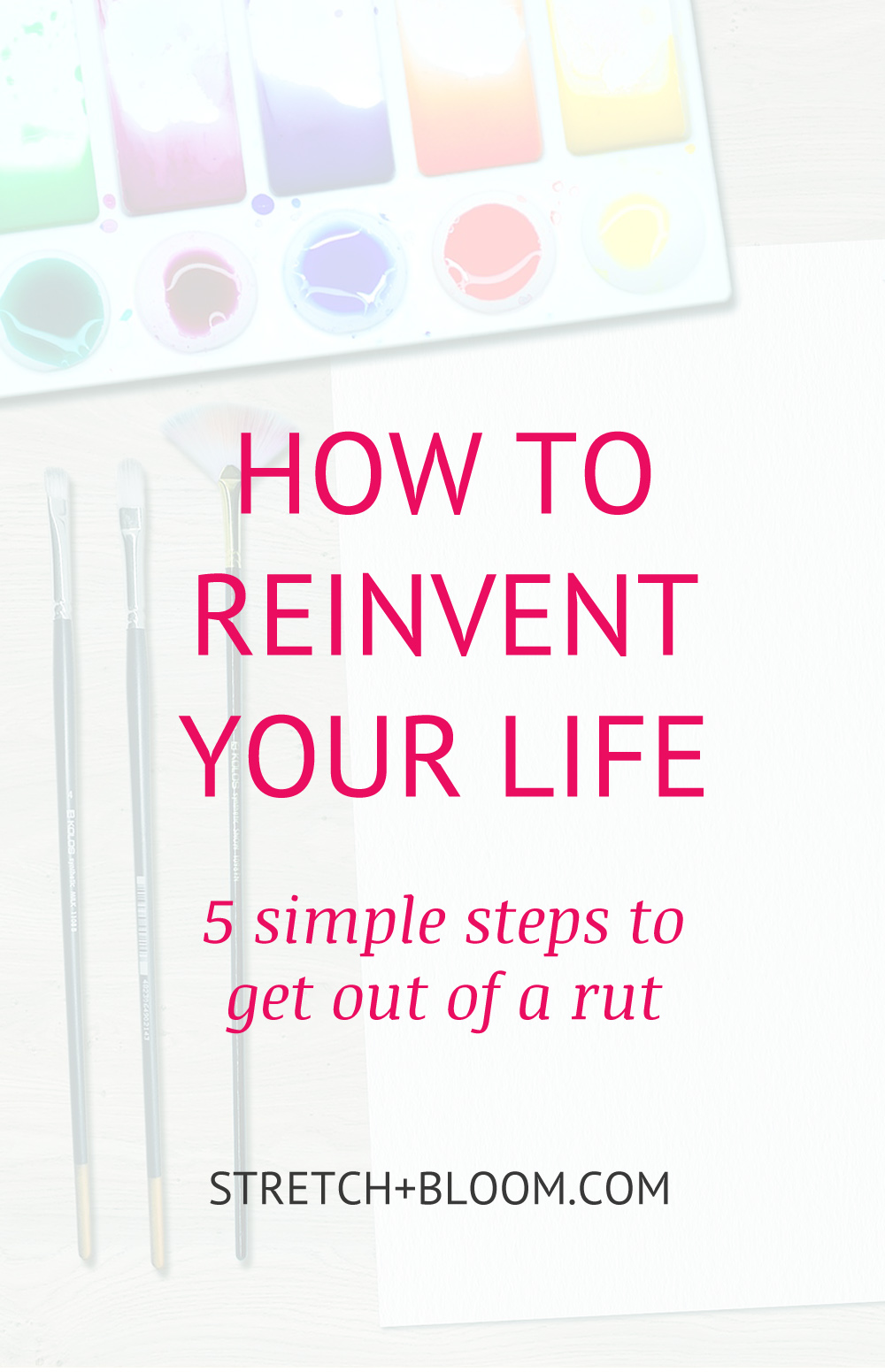 Sometimes in life you get stuck in a rut and live on auto-pilot. This is how you can reinvent your life in a few short steps.