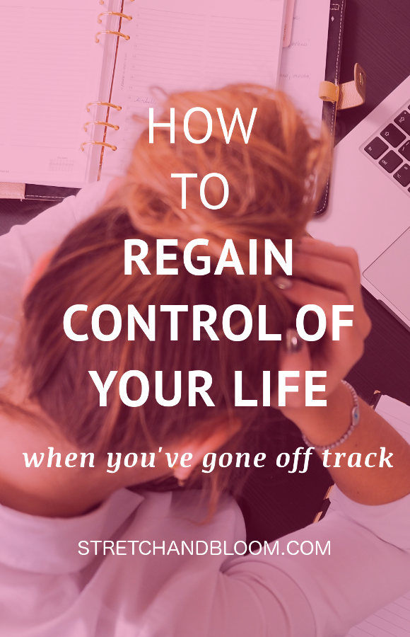 Pinterest banner: how to take back control of your life