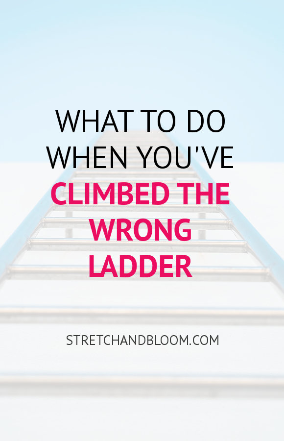 Pinterest visual: what to do when you've climbed the wrong ladder