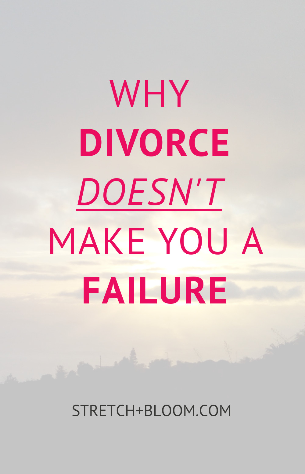 One the of the hardest experience to overcome when it comes to your love life is probably divorce. Today I'm sharing with you a few insights on why your marriage ending in a divorce doesn't make you a failure.