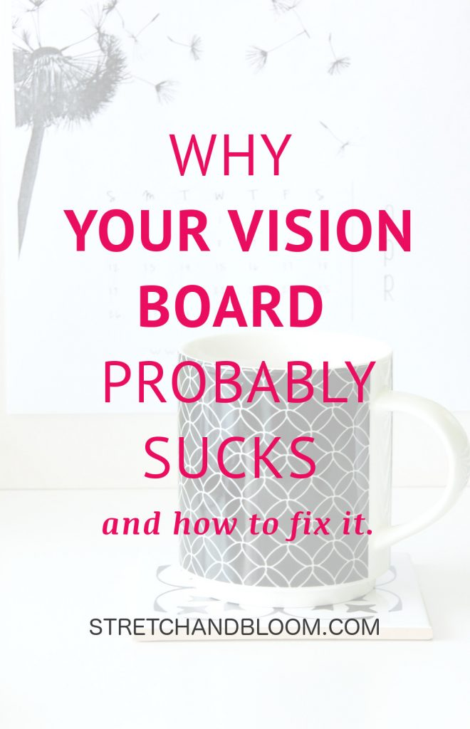 Vision boards are an extremely popular way to manifest big changes in your life. If you're planning a vision board to upgrade your life, a word of warning: your vision board will probably suck. Here's why it matters and what you can do about this. #visionboard #loa #manifestation #goalsetting