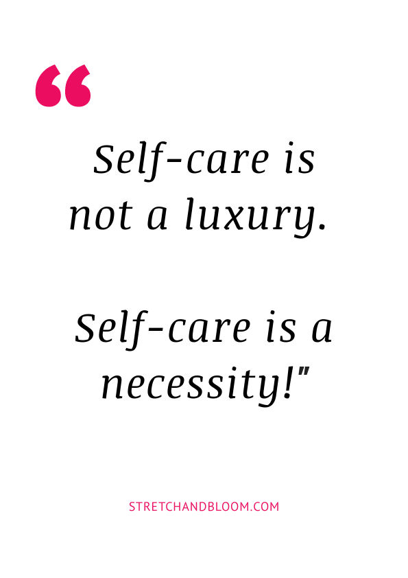 Quote visual: self care is not a luxury it's a necessity