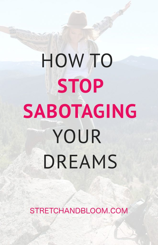 Got self-sabotage? If you've ever set out to follow your dreams, pursue your passions and lead your best life only to realize a few months down the line that in spite of best intentions you seem to be standing in your own way this post is for you.