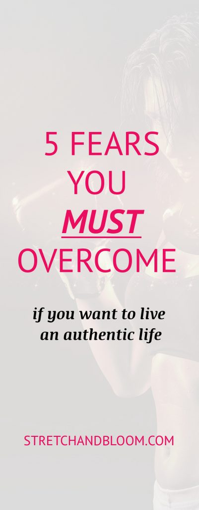 title pin: fears to overcome to live an authentic life