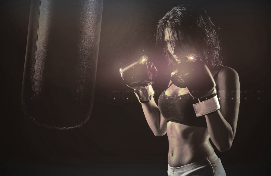 woman boxing - fears live authentic life