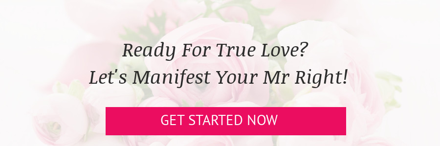 Banner: Ready for true love? Let's manifest your mr right!