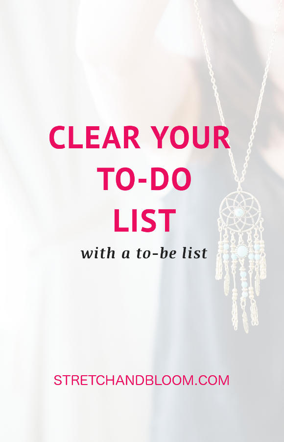 Banner pinterest:Clear your to-do list by magic with a to-be list