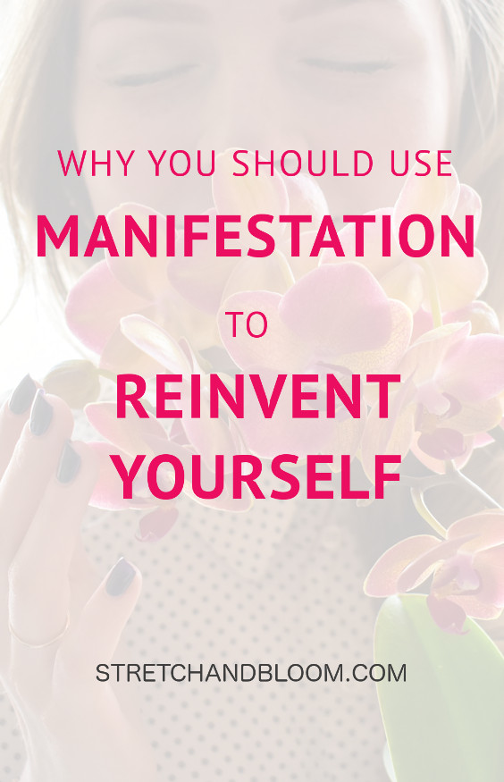 pin title banner 2: use manifestation to reinvent yourself
