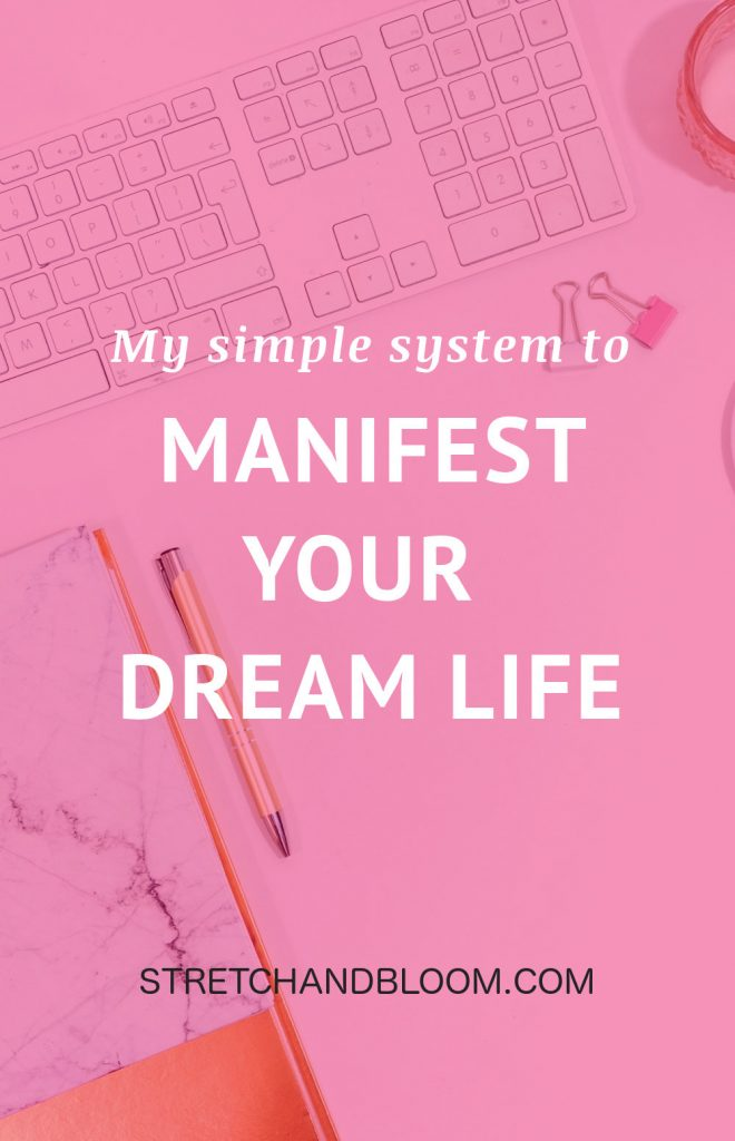 banner pinterest: Simple system to manifest your dream life