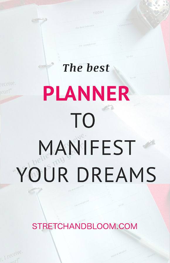 Pinterest banner: the best planner to manifest your dreams