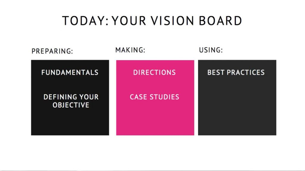 How to make a vision board to improve your life