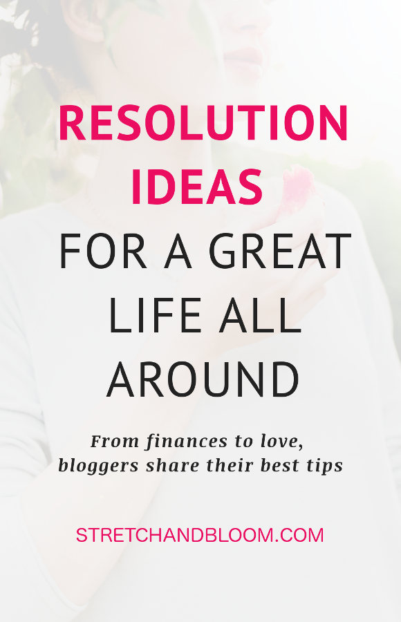 pinterest banner:resolution ideas for a great life all around