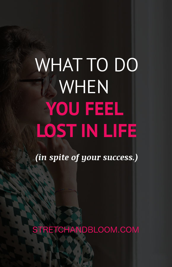 Pinterest banner: feeling lost in life