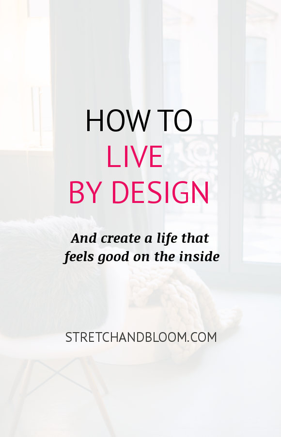 Pinterest banner: how to live by design