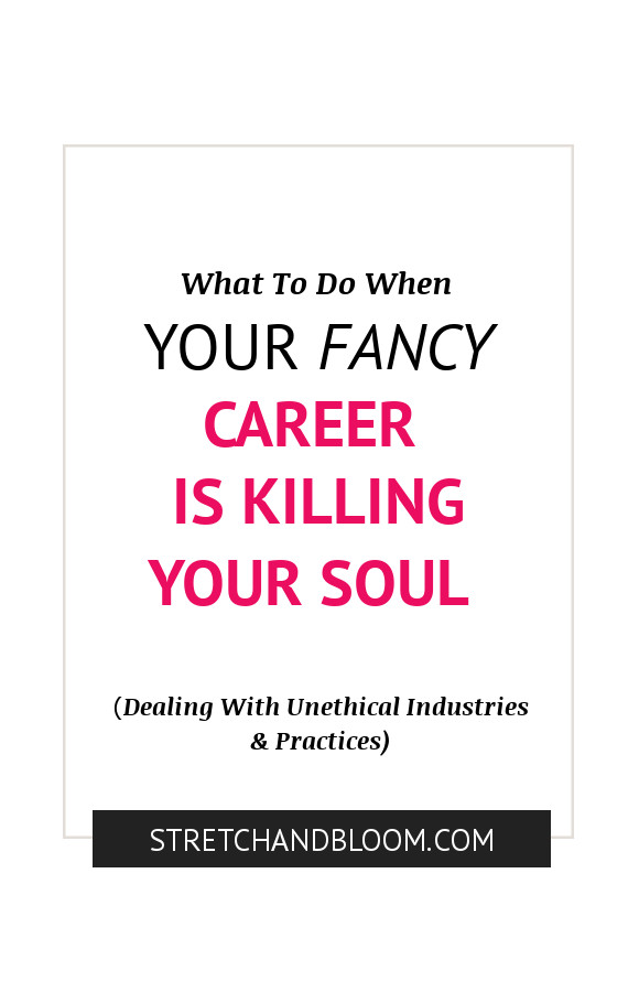 Pinterest banner: what to do when your career is costing you your soul