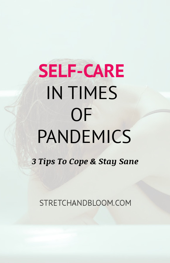 Pinterest banner: Self-care in times of pandemic