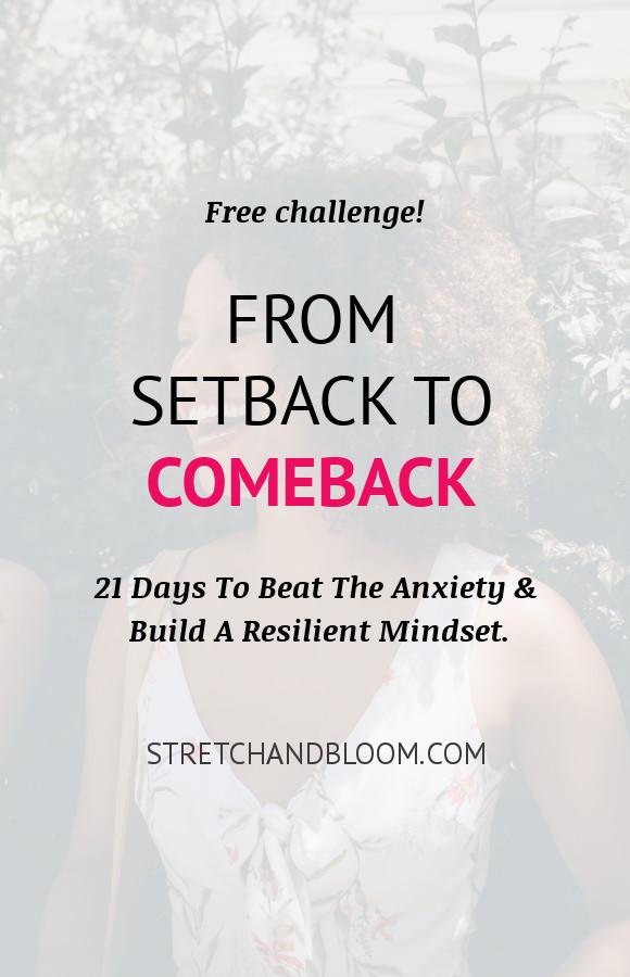 Pinterest banner: From steback to comeback challenge